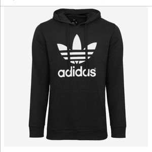NWT Mens Adidas Black Trefoil Fleece Hoodie